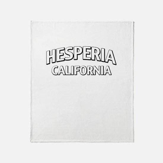 Hesperia California Throw Blanket