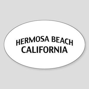 Hermosa Beach California Sticker (Oval)