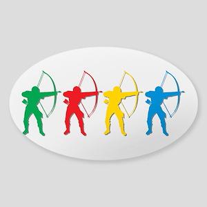 Archery Archers Sticker (Oval)