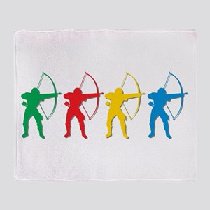 Archery Archers Throw Blanket