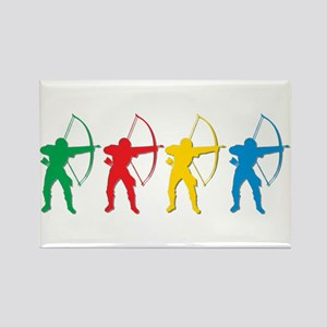 Archery Archers Rectangle Magnet
