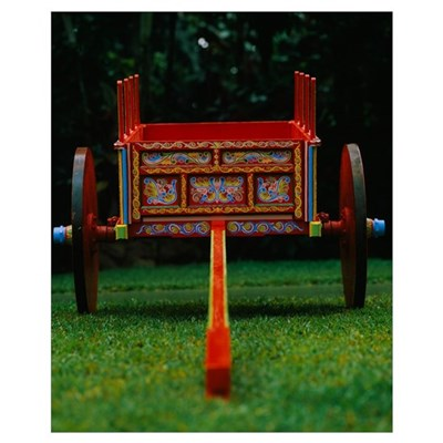 Hand painted ox cart in a park, Sarchi, Costa Rica Poster