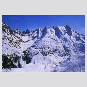 Snow on mountains, Zurs, Austria