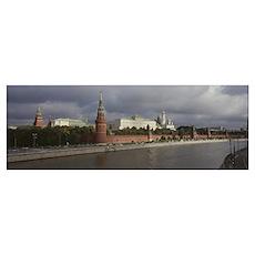Buildings along a river, Grand Kremlin Palace, Mos Poster