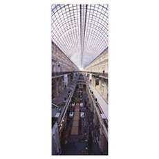 Interiors of a shopping mall, GUM, Glavny Universa Poster