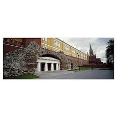 Entrance of a building, Kremlin Wall, Kutafya Towe Poster