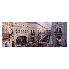 High angle view of a shopping center, GUM, Kremlin Poster
