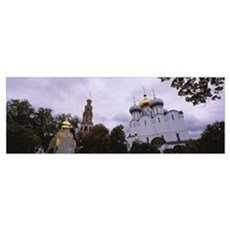Low angle view of a church, Novodevichy Convent, M Poster