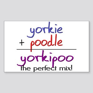 Yorkipoo PERFECT MIX Sticker (Rectangle)