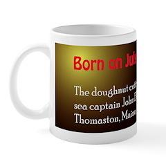 Mug: Doughnut cutter was patented by sea captain J