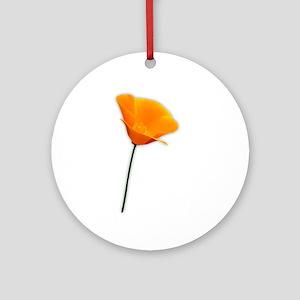 California Poppy Ornament (Round)