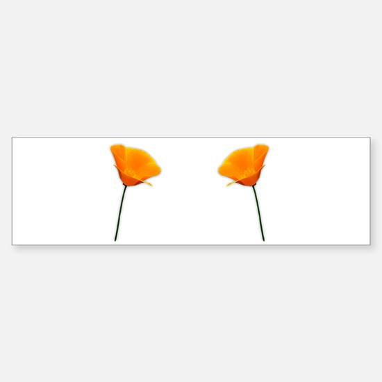 California Poppy Sticker (Bumper)