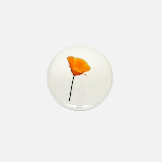 California Poppy Mini Button