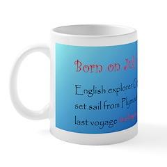 Mug: English explorer Captain James Cook set sail