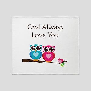 Owl Always Love You Throw Blanket