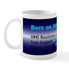 Mug: HMS Resolution under James Cook set sail from