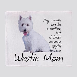 Westie Mom Throw Blanket