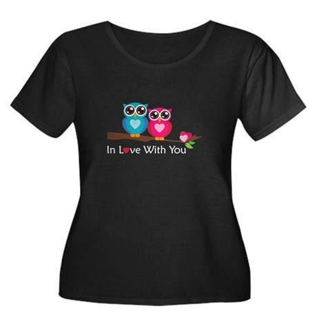 In Love With You Women's Plus Size Scoop Neck Dark