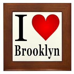I Love Brooklyn Framed Tile