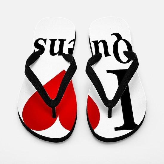 I Love Queens Flip Flops