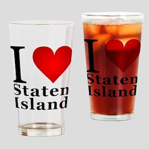 I Love Staten Island Drinking Glass