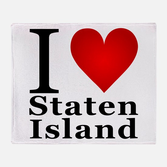 I Love Staten Island Throw Blanket