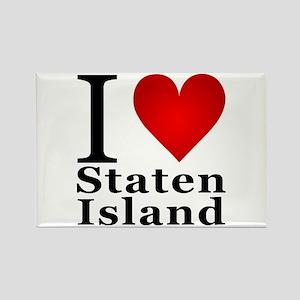 I Love Staten Island Rectangle Magnet