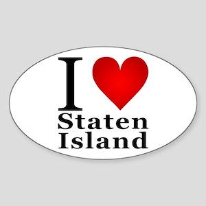 I Love Staten Island Sticker (Oval)
