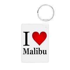 I Love Malibu Keychains