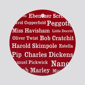 Dickens Characters (cranberry) Ornament (Round)