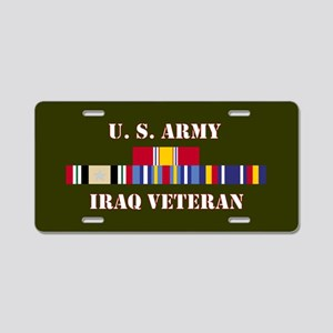 Army Iraq Vet 5 Star Aluminum License Plate