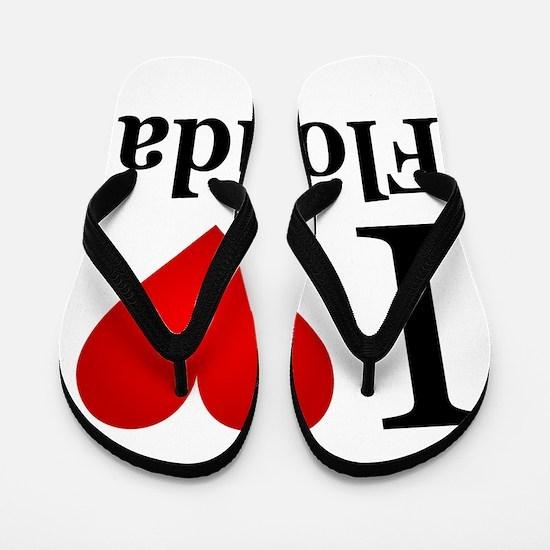I Love Florida Flip Flops