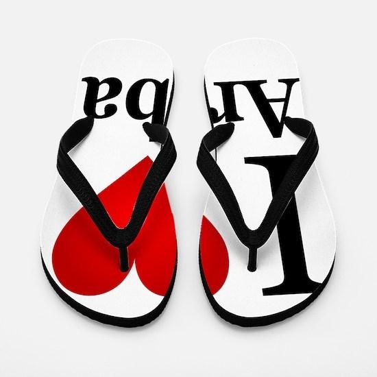 I Love Aruba Flip Flops