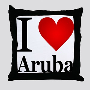I Love Aruba Throw Pillow