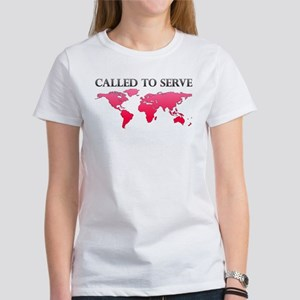 Called To Serve Pink Women's T-Shirt