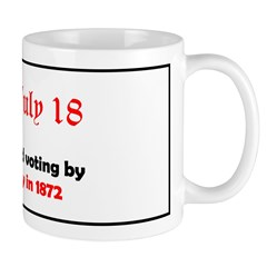 Mug: Britain introduced voting by secret ballot to
