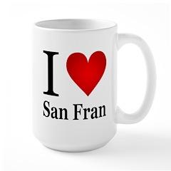 I Love San Francisco Large Mug