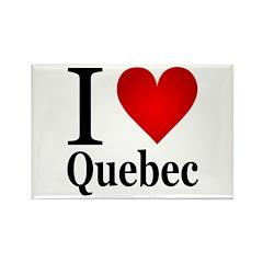 I Love Quebec Rectangle Magnet (100 pack)