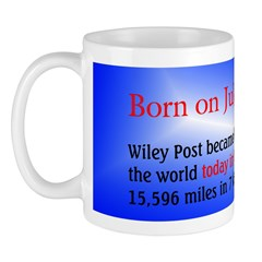 Mug: Wiley Post became first to fly solo around th