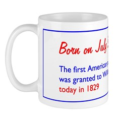 Mug: First American patent for a typewriter was gr