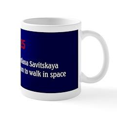 Mug: Soviet cosmonaut Svetlana Savitskaya became t