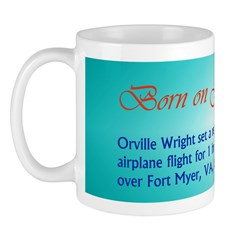 Mug: Orville Wright set a record for the longest a