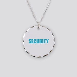 Security Necklace Circle Charm