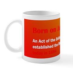 Mug: An Act of the British Parliament established