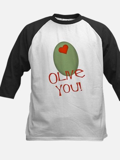 Olive You! Kids Baseball Jersey