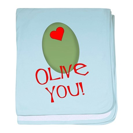 Olive You! baby blanket