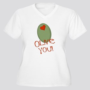 Olive You! Women's Plus Size V-Neck T-Shirt