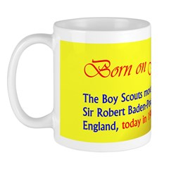 Mug: Boy Scouts movement was founded by Sir Robert