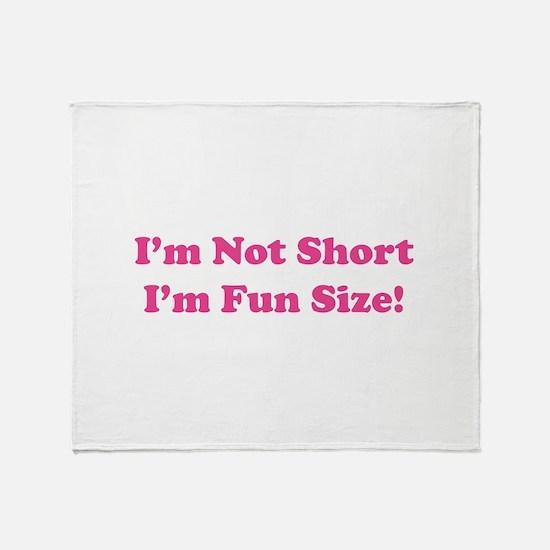 fun size Throw Blanket