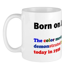 Mug: Color movie was first demonstrated by George